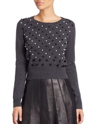Diane Von Furstenberg Revaya Wool And Cashmere Sweater Charcoal