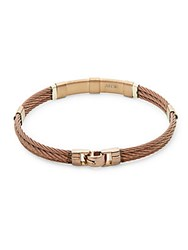 Alor 18K Yellow Gold And Bronze Cable Bracelet Brown