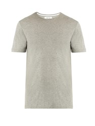 Hamilton And Hare Haymaker Crew Neck Cotton Blend T Shirt Grey