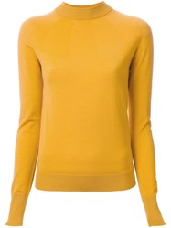 Christophe Lemaire High Neck Jumper Yellow And Orange
