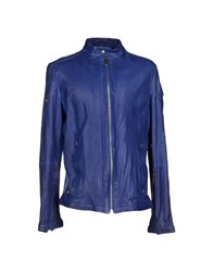 Dirk Bikkembergs Coats And Jackets Jackets Men Bright Blue