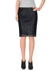 Elie Tahari Knee Length Skirts Black