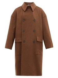 Connolly Oversized Double Breasted Wool Coat Brown Multi