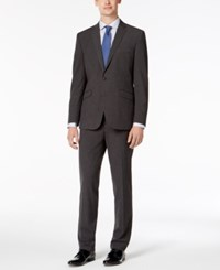 Kenneth Cole Reaction Slim Fit Techni Stretch Charcoal Micro Grid Big And Tall Suit