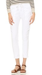 James Perse Jersey Lined Pull On Pants White