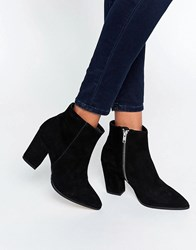Carvela Sarah Black Suede Pointed Ankle Boots Black