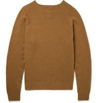 Barena Slim Fit Wool And Cashmere Blend Sweater Camel
