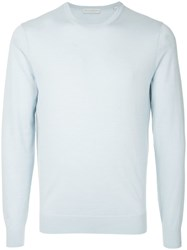 Gieves And Hawkes Round Neck Sweater Blue