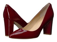 Ivanka Trump Lysa Dark Red Patent Leather Women's Shoes Burgundy
