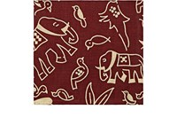 Barneys New York Men's Animal And Floral Print Linen Pocket Square Red