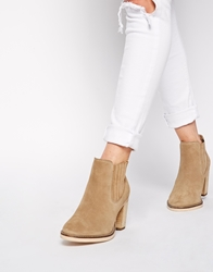 Asos Each And Every Day Wide Fit Suede Ankle Boots Sand
