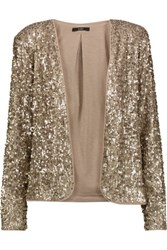 Tart Collections Dominique Sequined Georgette Blazer Gold