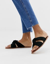 Warehouse Knot Sandals In Black