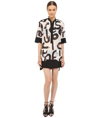 Proenza Schouler Shirtdress Cover Up White Black Vermillion