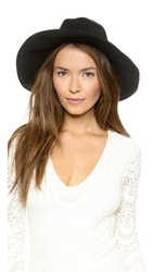 One By Lovely Bird Suede Bohemia Hat Black