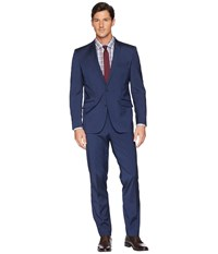 Kenneth Cole Reaction Iridescent 32 Finished Bottom Suit Navy Suits Sets