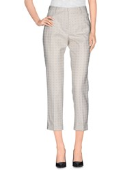 Seventy By Sergio Tegon Trousers 3 4 Length Trousers Women Ivory