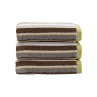 Christy Portobello Stripe Towel Lime Bath Towel