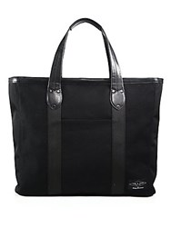 Rag And Bone Derby Leather Trimmed Tote Black