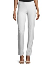 Eileen Fisher Washable Stretch Crepe Ankle Pants Bone Plus Size