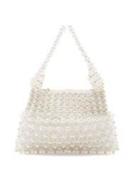 Shrimps Quinn Faux Pearl Embellished Clutch Cream Multi