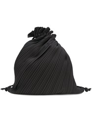 Issey Miyake Pleats Please By Pleated Drawstring Backpack Black