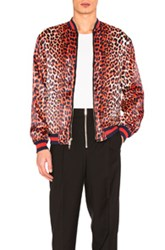3.1 Phillip Lim Reversible Leopard Souvenir Jacket In Black Animal Print Orange Black Animal Print Orange
