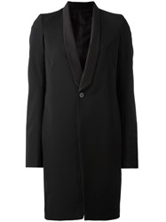Rick Owens Boxy Long Line Coat Black