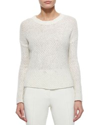 Moncler Cable Knit Sweater Cream