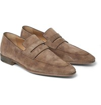 Berluti Andy Suede Loafers Taupe