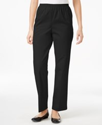 Alfred Dunner Twill Pull On Pants Black