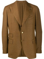 Gabriele Pasini Jet Set Suit Jacket Brown