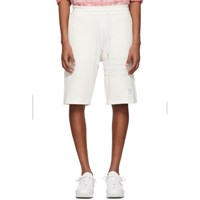 Thom Browne White Chunky Honeycomb Pique 4 Bar Shorts