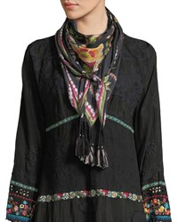 Johnny Was Gilmore Floral Silk Georgette Scarf Multi