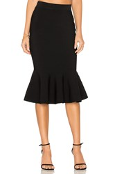 Milly Mermaid Hem Skirt Black
