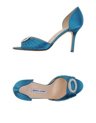 Manolo Blahnik Sandals Pastel Blue