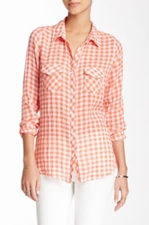 Candc California Two Pocket Plaid Shirt Orange
