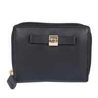 Dents Ladies Zip Round Credit Card Holder Black