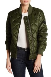 French Connection Quilted Bomber Jacket Green
