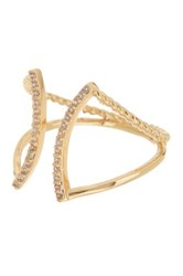 Nordstrom Rack Pave Curved Cz Open Ring Metallic
