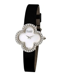Vintage Alhambra Sertie White Gold Watch Medium Van Cleef And Arpels White Gold