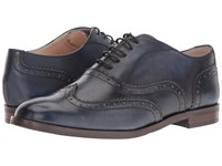 Massimo Matteo Oxford Wing Tip Jeans Women's Lace Up Wing Tip Shoes Blue
