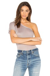 Enza Costa One Shoulder Top Gray