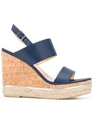 Hogan Wedged Sandals Blue