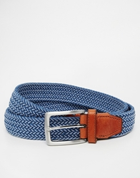Selected Woven Belt Blue