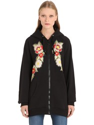 Gucci Embroidered And Printed Zip Up Sweatshirt