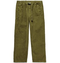 Albam Tapered Garment Dyed Cotton Corduroy Trousers Green