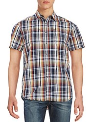 Howe Short Sleeve Cotton Plaid Shirt