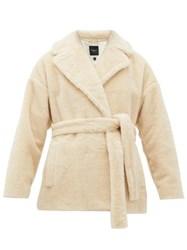 Max Mara Weekend Ramino Double Breasted Virgin Wool Blend Coat Ivory