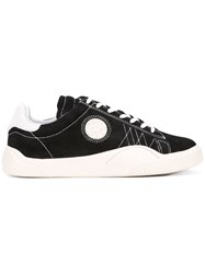 Eytys Lateral Patch Lace Up Sneakers Men Leather Suede Rubber 43 Black